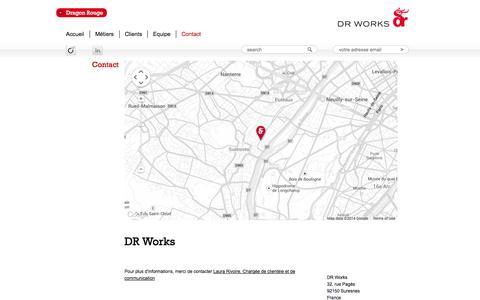Screenshot of Contact Page drworks.fr - DR Works | DR Works - captured Sept. 30, 2014