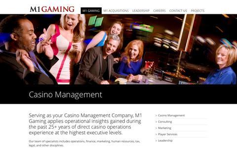 Screenshot of Team Page m1gaming.com - Casino Management M1 Gaming - captured Oct. 3, 2014
