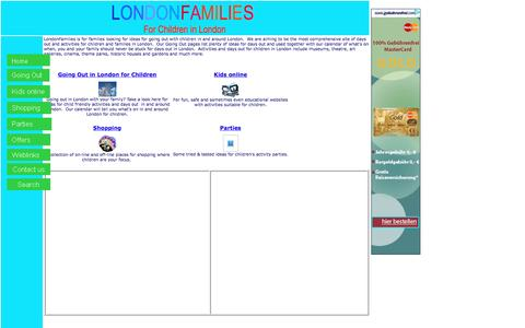 Screenshot of Home Page londonfamilies.co.uk - LondonFamilies - Activities & days out for London's families - captured March 11, 2016