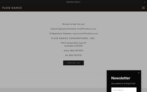 Screenshot of Contact Page fluiddance.com - Contact Us— Fluid Dance - captured Nov. 14, 2018