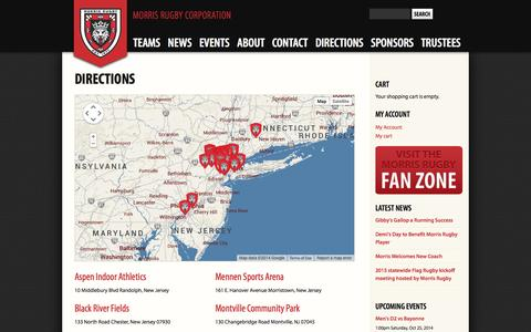 Screenshot of Maps & Directions Page morrisrugby.org - Directions | Morris Rugby Corporation - captured Oct. 25, 2014