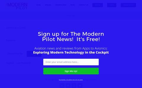 Screenshot of Login Page themodernpilot.com - Log In – The Modern Pilot - captured June 15, 2017