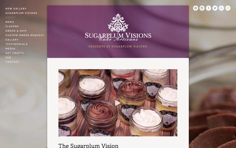 Screenshot of About Page sugarplum-visions.com - About Ń Put A Fork In It! - captured Jan. 12, 2016