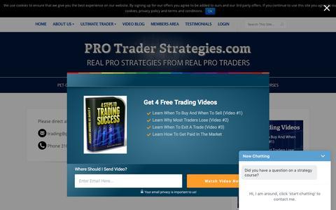 Screenshot of Contact Page protraderstrategies.com - Contact Us - - captured Sept. 23, 2018