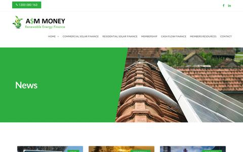 Screenshot of Press Page asmmoney.com.au - News - ASM Money - captured Nov. 6, 2018
