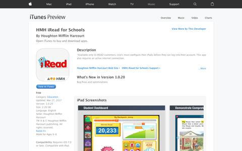 HMH iRead for Schools on the App Store