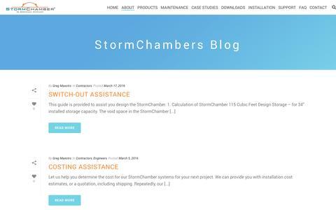 Screenshot of Blog stormchambers.com - Stormwater Management Blog | StormChambers - captured Dec. 16, 2016