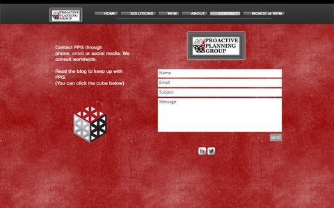 Screenshot of Contact Page proactiveplanning.net - Contact PPG - captured Nov. 13, 2016