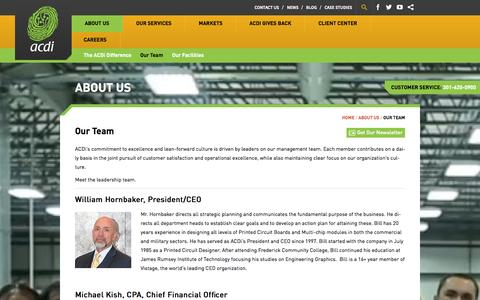 Screenshot of Team Page acdi.com - Our Team - ACDI - captured Oct. 4, 2014