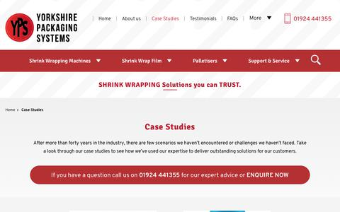 Screenshot of Case Studies Page yps.co.uk - YPS Case Studies for Shrink Wrapping Solutions - captured Oct. 2, 2018
