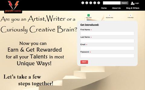 Screenshot of Signup Page punchtantra.com - Punchtantra - captured July 18, 2016