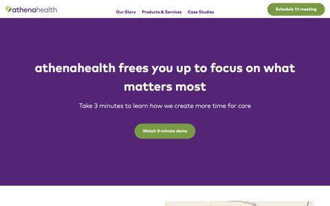 Screenshot of Landing Page athenahealth.com - athenahealth - captured Dec. 30, 2017