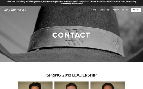 Screenshot of Team Page texaswranglers.org - Leadership — TEXAS WRANGLERS - captured Feb. 26, 2018