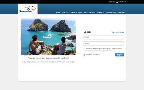 Screenshot of Login Page rosanetur.com - Rosanetur - Login - captured Oct. 1, 2014