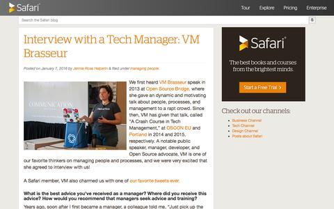 Safari Blog - technology, business, and design