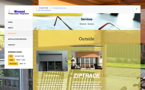 Screenshot of Services Page miramad.com - Miramad   Products - captured Nov. 14, 2017