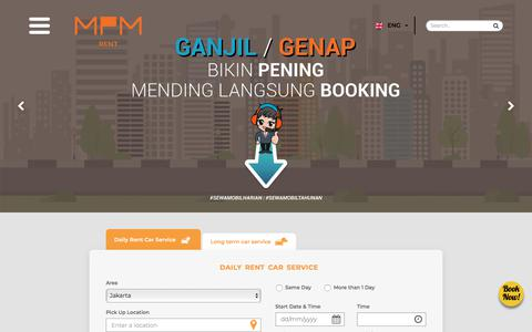 Screenshot of Home Page mpm-rent.com - MPM Rent, We Serve You Better - captured Sept. 26, 2018
