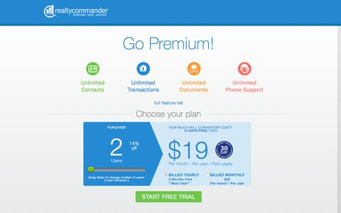 Screenshot of Pricing Page shortsalecommander.com - Realty Commander  � Automate Track Succeed - captured Jan. 13, 2016