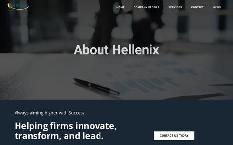 Screenshot of About Page hellenix.eu - Who is Hellenix? - Hellenix | Industrial Relations Advisors - captured July 18, 2018