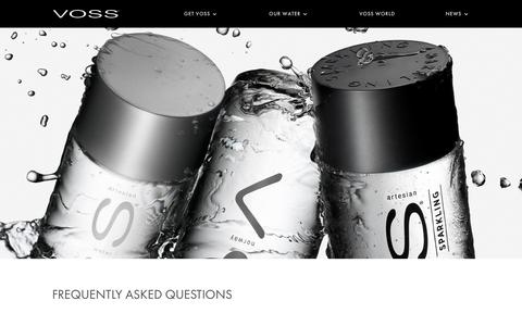 Screenshot of FAQ Page vosswater.com - FAQ's | Voss Water - captured June 29, 2017