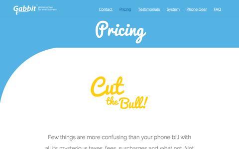 Screenshot of Pricing Page gabbit.net - Pricing - Gabbit - captured Dec. 7, 2015