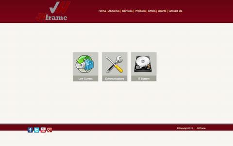 Screenshot of Services Page jwframe.com - JWframe comprehensive services - captured Oct. 6, 2014