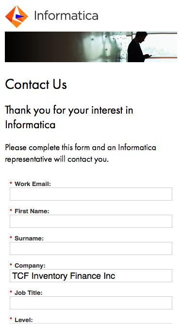 Informatica - Contact Us
