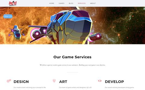 Screenshot of Services Page dig-itgames.com - Services - Dig-It! Games - captured Aug. 7, 2018