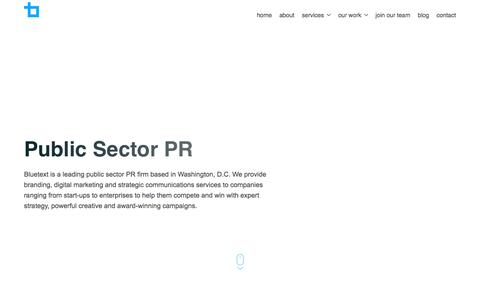 Public Sector PR | Bluetext