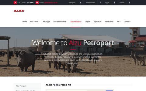 Screenshot of Maps & Directions Page alzu.co.za - Alzu Petroport - captured Feb. 6, 2016