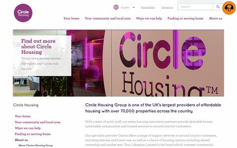 Screenshot of About Page circle.org.uk - About us   Circle Housing   Circle Housing - captured July 31, 2017