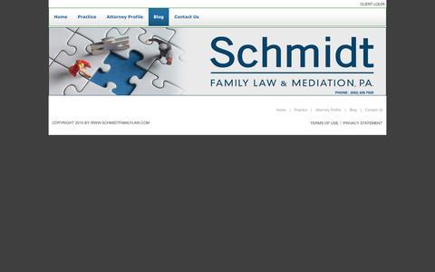 Screenshot of Blog schmidtfamilylaw.com - schmidtfamilylaw.com > Blog - captured Oct. 4, 2014