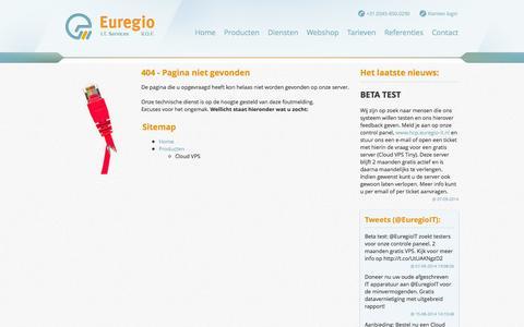 Screenshot of Login Page euregio-it.nl - Euregio IT - captured Oct. 3, 2014