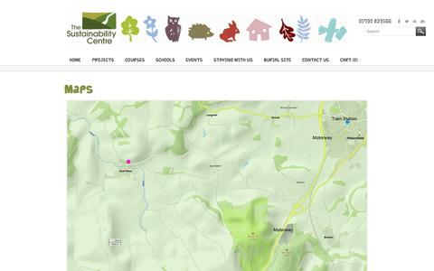 Screenshot of Maps & Directions Page sustainability-centre.org - Map - SUSTAINABILITY CENTRE - captured Nov. 5, 2014