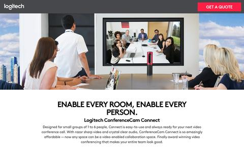 Screenshot of Landing Page logitech.com - Logitech ConferenceCam Connect - captured Sept. 25, 2016