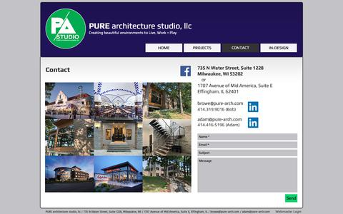 Screenshot of Contact Page pure-arch.com - Contact Pure Architecture Studio - captured Oct. 24, 2018