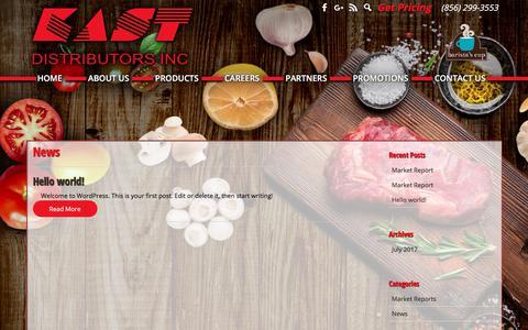 Screenshot of Press Page kastdistributors.com - News Archives | Kast Distributors - captured Oct. 16, 2017