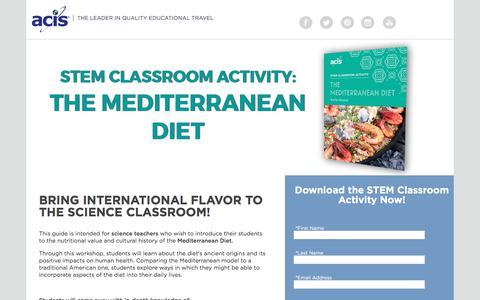 Screenshot of Landing Page acis.com - STEM Classroom Activity: Invasive Species Lesson Plan - captured May 11, 2018