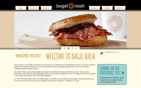 Screenshot of Home Page bagelnash.com - Welcome to Bagel Nash - captured July 11, 2014