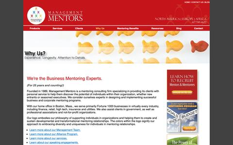 Screenshot of About Page management-mentors.com - Business Mentoring Experts – Management Mentors - captured Oct. 2, 2018
