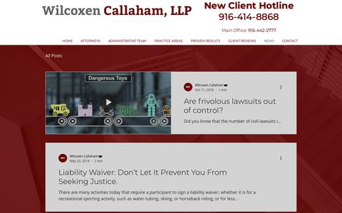 Screenshot of Press Page wilcoxenlaw.com - NEWS | Wilcoxen Law - captured May 30, 2019