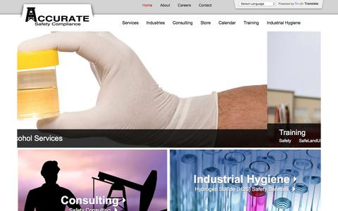 Screenshot of Home Page accuratesafetyco.com - Home | Accurate Safety Compliance - captured Nov. 20, 2016
