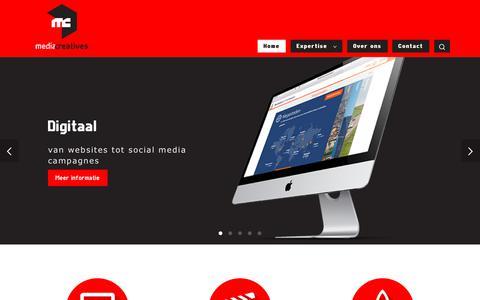 Screenshot of Home Page mediacreatives.nl - Media Creatives - captured Sept. 20, 2018