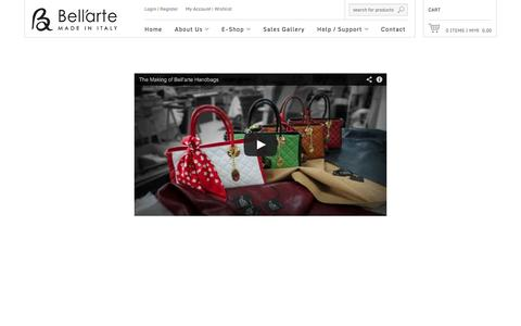 Screenshot of Press Page be-bellarte.com - Malaysia Be-Bellarte Hand Crafted Italian Handbag - captured Oct. 5, 2014