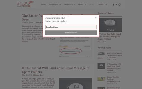 Screenshot of Blog knerlfamilymedia.com - Best Nebraska Social Media Tips Blog - captured June 9, 2017