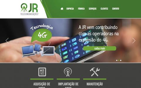 Screenshot of Home Page jrtelecomunicacao.com.br - JR Telecomunicações - captured Oct. 4, 2014
