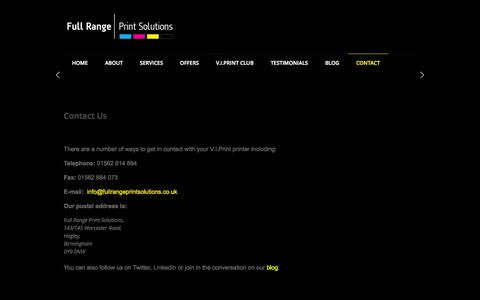 Screenshot of Contact Page fullrangeprintsolutions.co.uk - Contact Us at Full Range Print Solutions - captured Oct. 6, 2014