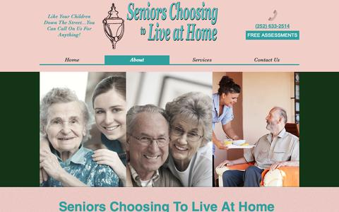 Screenshot of About Page seniorschoosingtoliveathome.com - About | United States | Seniors Choosing To Live At Home - captured Oct. 19, 2018