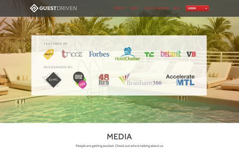 Screenshot of Press Page guestdriven.com - GuestDriven | Mobile App and Marketing Data News -  GuestDriven - captured Sept. 16, 2014