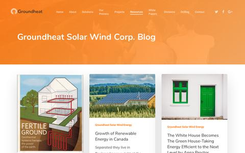 Screenshot of Press Page groundheat.com - Corporate Creative News – Groundheat Energy Solar Wind Corp - captured Nov. 5, 2018